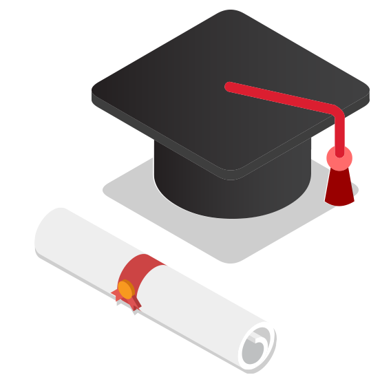 Cap And Diploma Illustration