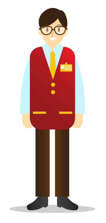 Supermarket employee illustration